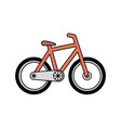isolated bicycle transport vector image