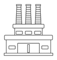 Large oil refinery icon outline style vector image vector image