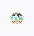 mountain camp logo template vector image vector image