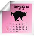 November 2016 Calendar vector image