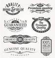 ornate emblems quality vector image vector image
