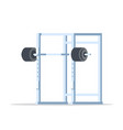 picture of squat rack vector image