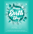 Planet in green leaves wreath april 22 banner