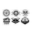 premium motorcycle league logo set retro badges vector image