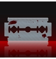 Razor Blade Stained with Blood vector image vector image