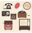 Retro devices set vector image vector image