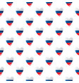 seamless pattern with hearts russian style vector image