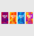 set dynamic abstract liquid shapes on coupon vector image vector image