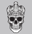 skull king vector image