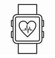 Smartwatch icon outline style vector image vector image
