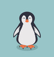 smiling penguin cartoon vector image vector image