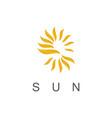 sun shine logo vector image