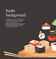 sushi bar background banner vector image vector image