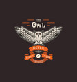 the owl handmade owl and ribbon vector image vector image