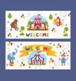 traveling circus banner vector image