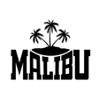 Typography graphics Malibu Beach California vector image vector image