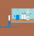 water supply and purification system vector image vector image