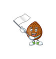 with flag salak fruit character on white vector image vector image