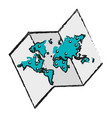 world map ico vector image vector image