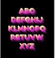 modern holidays party alphabet vector image