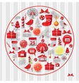 Set christmas modern design vector image