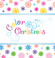 color christmas vector image