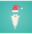 Accessories Santa Claus - hat and beard Christmas vector image vector image