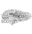 are you fit text word cloud concept vector image vector image