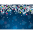 background with pine twig and christmas ball vector image