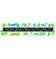 balloons with confetti and text congrats vector image