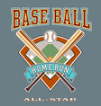 baseball allstar homerun vector image vector image