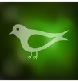 bird icon on blurred background vector image