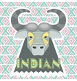 bison gray vector image