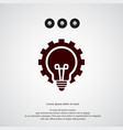 bulb with gear icon simple idea element symbol vector image