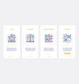 business management line concept ux ui onboarding vector image