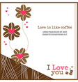 Cards Love is like coffee vector image vector image
