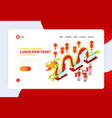 chinese new year landing page vector image vector image