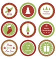 Christmas cupcake toppers vector image