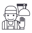 cleaning service line icon vector image