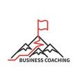 coaching business logo vector image