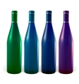 colored bottles vector image vector image