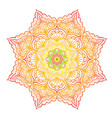 colorful mandala vector image vector image