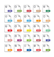 Computer files icons vector image