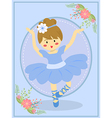 Cute Blue Ballerina Girl vector image