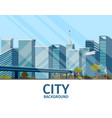 drawing image of the city background vector image