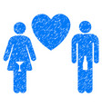drunky love pair grunge icon vector image