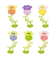 exotic flowers vector image vector image