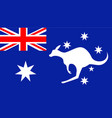 flag australia vector image vector image