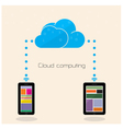 Flat cloud technology computing background concept vector image vector image
