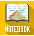 flat notebook design concept vector image